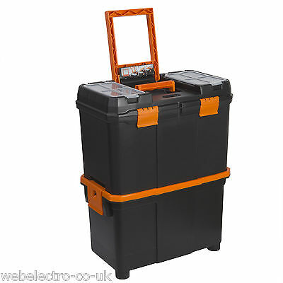 "10932 Mobile Cart Storage Store Tool Box Trolley Roller Chest 18""- 460x260x590mm"