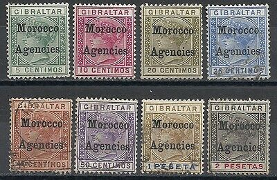 Morocco Agencies stamps 1899 SG 9-16  CANC/MLH  VF