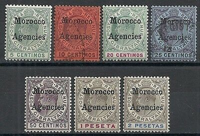 Morocco Agencies stamps 1903 SG 17-23  MLH/CANC  VF