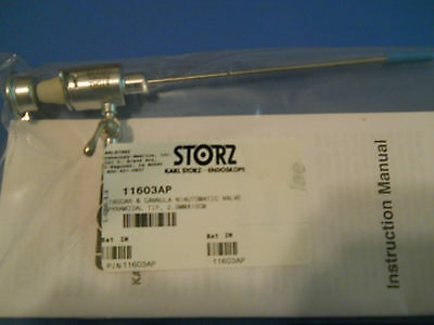 Karl Storz 11603AP Trocar Cannula and automatic valve 2.5mm x 10 cm