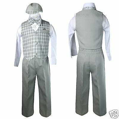 Gray Infant  Boy & Toddler Formal Wedding Party Suit Outfits S M L XL 2T 3T 4T