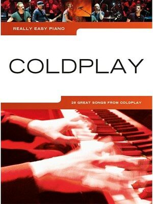 COLDPLAY - Really Easy Piano Book *NEW* Lyrics & Music 28 Songs Inc. Fix You