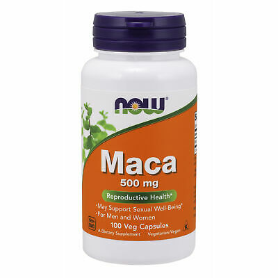 Now Foods, Pure Maca 500mg x100Vcaps - RICH IN SAPONINS!  SEX DRIVE!  STAMINA!