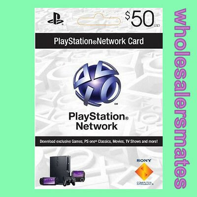 Playstation 3 PSN Network Card $50 US Store 50 USD für PS3 PS4 PSP Per Email