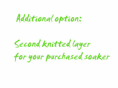 SECOND KNITTED LAYER for Diaper Cover merino wool cloth nappy soaker double baby
