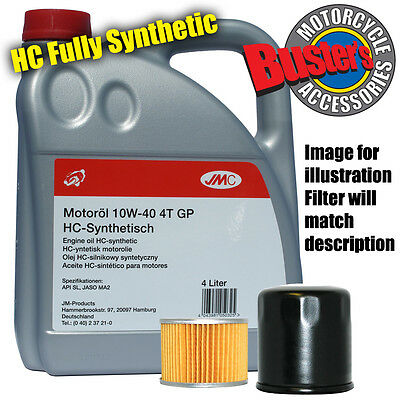 Yamaha XJ 550 J Maxim 1982 Filter & 4L Fully Synthetic Oil