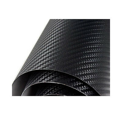 Bubble Free! 3D Carbon Fibre Vinyl Perforated, Car Wrapping Vinyl Large Sizes