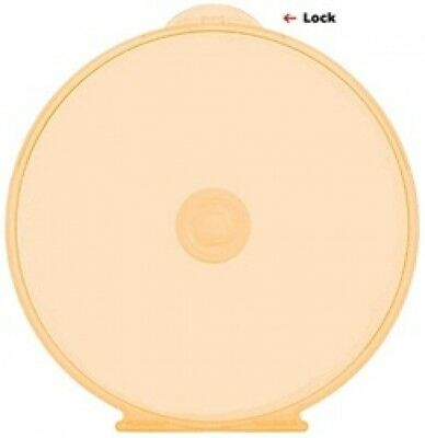400 Orange Color Round ClamShell CD/DVD Case with Lock