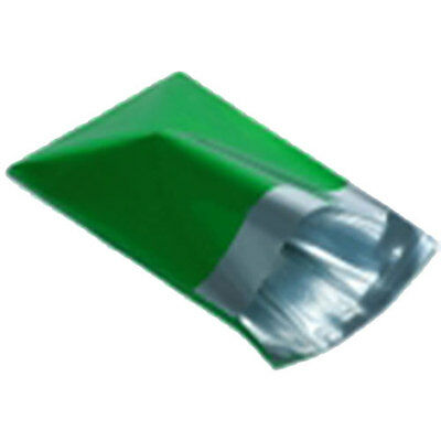 "10 Metallic Green 9""x12"" Foil Mailing Postage Postal Bags"