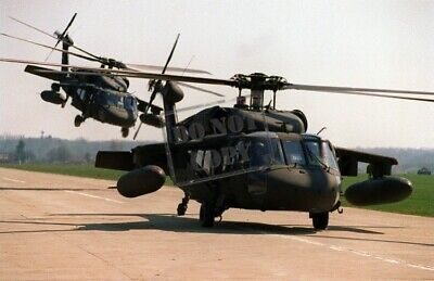 US ARMY USA Two UH-60 Blackhawk helicopters 8X12 PHOTOGRAPH