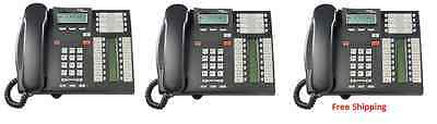 Nortel Norstar T7316e Charcoal Phones NT8B27JAAA QTY: 3  Package of 3 Units
