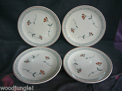 4  Vintage JOHNSON BROS OLD ENGLISH ZEPHYR SALAD PLATES  LUNCH ENGLAND