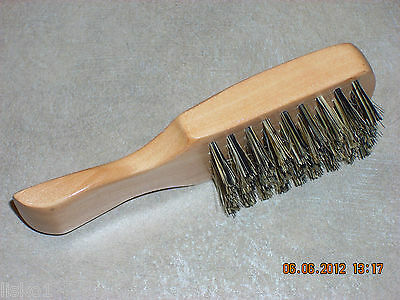 """MINI 5"""" SCALPMASTER #SC  FIRM  1-SIDED MEN'S FADE BRUSH, ALL WOOD HANDLE"""