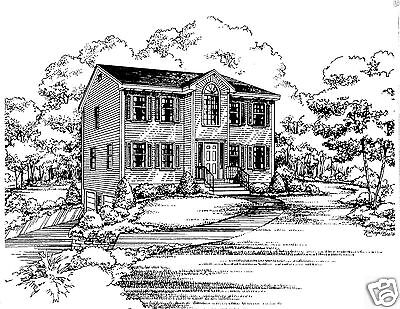 3 Bdrm 1 1/2 Bath 1544 SF/ Opt 2 Car Garage Under Colonial House Plan