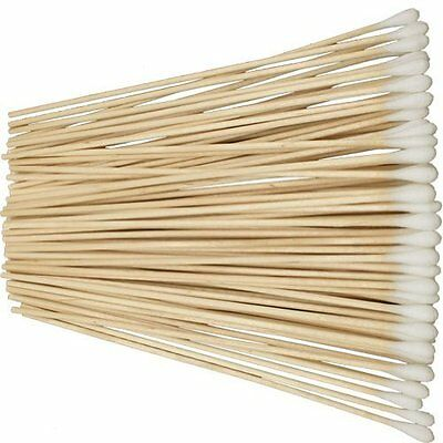 """New Pack of 100 6"""" Cotton Tipped Applicator Swabs Wood Shaft Non Sterile CS100-6"""