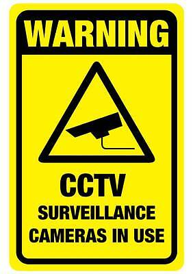 CCTV Warning sign  290mm x 190mm free post