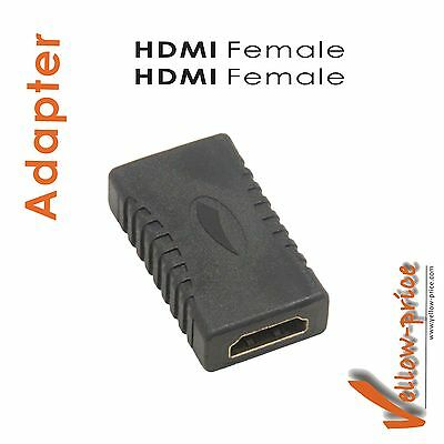 Premium New HDMI Female to HDMI Female Adapter Coupler HDMI FF Converter Adaptor