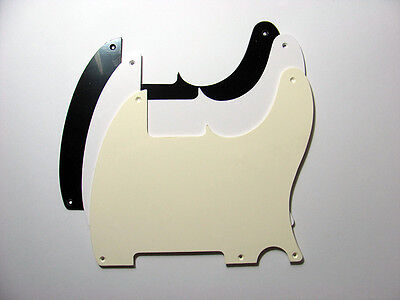 Esquire Single ply 5 Hole Pickguard - Various Colours