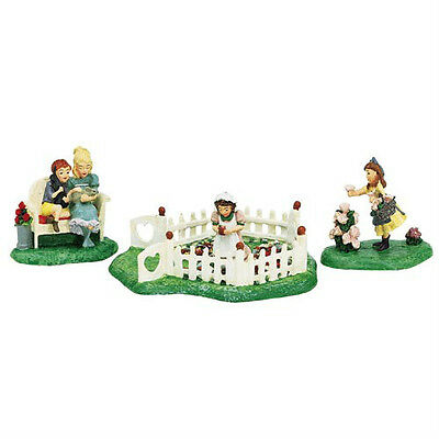 Dept 56 Seasons Bay RELAXING IN A GARDEN SET/3 MINT!