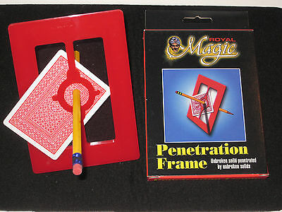 Penetration Frame Magic Trick - Solid Thur Solid, Close Up, Walk Around, Street