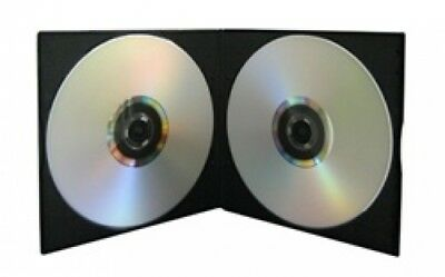 100 SLIM Black Double VCD PP Poly Cases 5MM