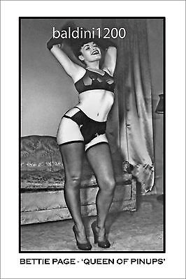 """Bettie Page - """"queen Of Pinups"""" Looks Great Framed - Top Quality"""