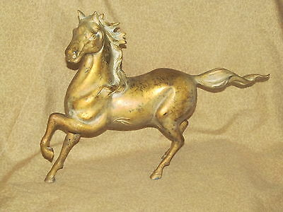 Old or Antique Gilded Cast Iron Horse Asian Chinese?