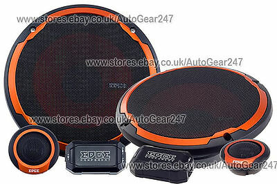 "EDGE ED306 2 Way 240W 6"" 6.5"" Car Van Component Speakers Set Pair With Grills"