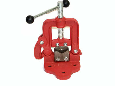 Bench Pipe Vise Clamp On Hinged Type Plumber's Vice #1 Hand Tools