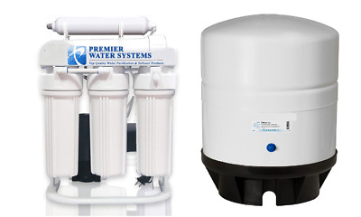 Light Commercial Reverse Osmosis Water Filter System 300 GPD 14 gallon tank pump