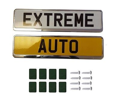2X Chrome Car Number Plate Holders Frames Surrounds FOR MG MG TF 02-  sc 1 st  PicClick UK & 2X CHROME CAR Number Plate Holders Frames Surrounds FOR VW ...