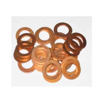 25 X 4Mm Copper Sealing Washer M4 Seal Motorbike 4.0Mm Washers Od 8Mm    Kw90