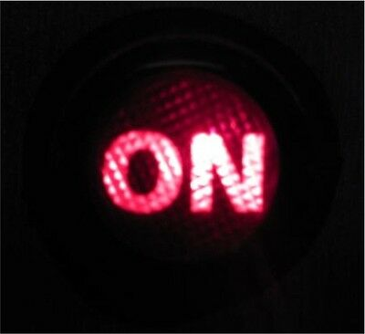 Push Button Switch 12V Car Dash Red 12 Volt On Off Illuminated Van Boat Light Up