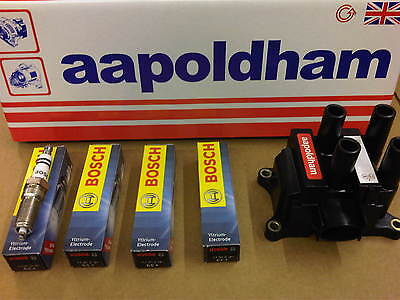 FORD FOCUS mk1 98-04 1.4 1.6 1.8 2.0 IGNITION COIL PACK & 4X BOSCH SPARK PLUGS