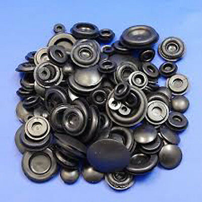 60 x ASSORTED BLANKING GROMMET PLUG GROMMETS 6mm to 25mm CLOSED BUNG STOPPER