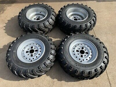 Front & Rear 12 Inch Atv  Rims & Tyres Package Set 4