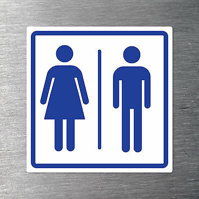 Male female toilet sign 200mm x 200mm free post non fade waterproof