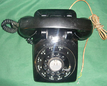 Vintage Western Electric Desk Phone Bell System Metal Dial 1959 Telephone C/D500