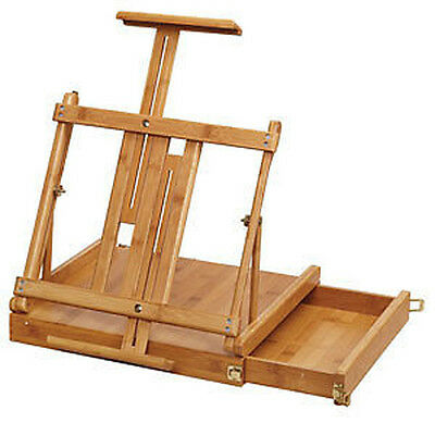 Loxley Bamboo Artists Table Easel with Storage Box