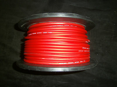 10 GAUGE AWG WIRE 100 FT RED CABLE POWER GROUND STRANDED PRIMARY FAST SHIPPING