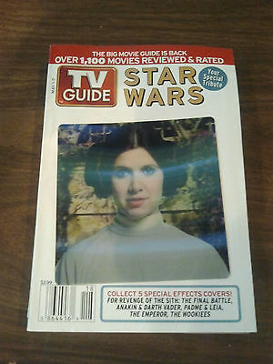 "Star Wars TV Guide May 2005 Star Wars Hologram Cover Pressbook ""PADME & LEIA"""