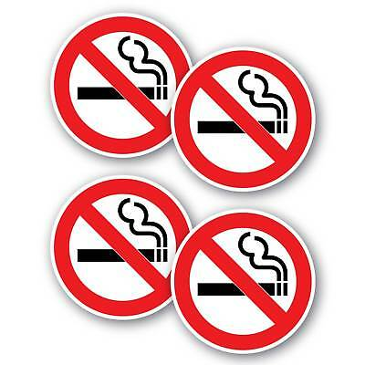 No smoking stickers 4 pack 100mm water and fade proof vinyl