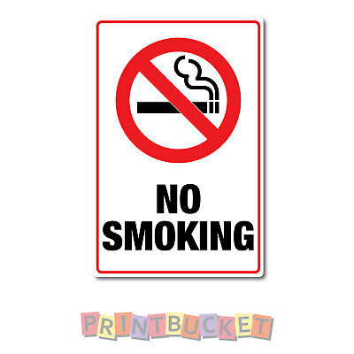 No smoking sign 290mm x 190mm  7 year non fade & waterproof