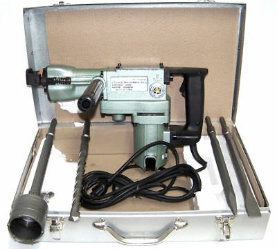 """2 in 1 H-D 1-1/2"""" Demolition  Hammer Core Rotary Hammer Drill and Bits Power"""