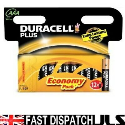 24  DURACELL Plus AAA MN2400 LR03 Batteries 1.5V ALKALINE 2 PACKS 12 (8+4)