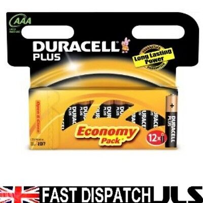 48  DURACELL Plus AAA MN2400 LR03 Batteries 1.5V ALKALINE 4 PACKS 12 (8+4)