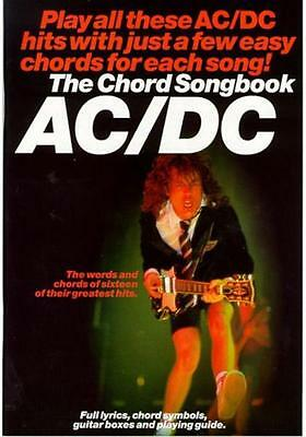 AC/DC - Guitar Chord Song Book *NEW* Music Lyrics Inc. Highway To Hell