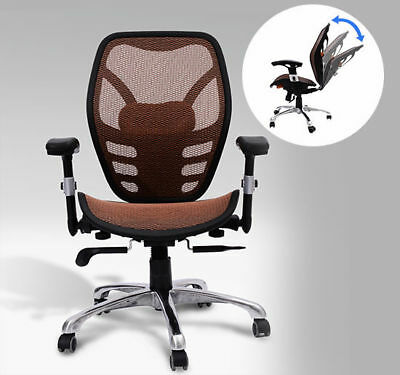 HomCom Orange Deluxe Mesh Ergonomic Office Chair Seat Desk Computer Task Chairs