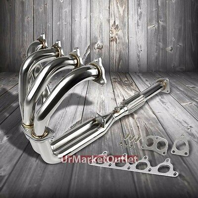 Stainless Steel Exhaust Header Manifold For Honda 92-96 Prelude Si 2.3L 4CYL H23