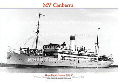MV CANBERRA HOWARD SMITH COMPANY SHIP A3 POSTER PRINT PICTURE IMAGE PHOTO x